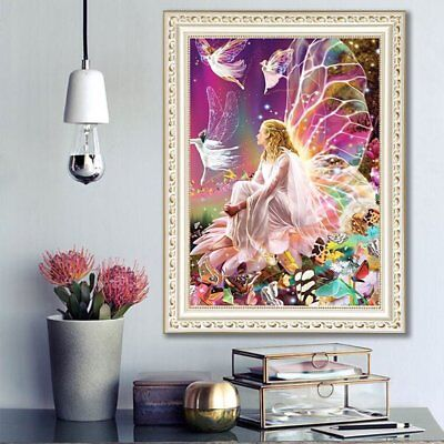 NEW DIY 5D Diamond Painting Embroidery Cross Stitch Home Decor Craft Fairy Girls