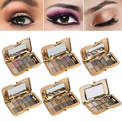 Eyeshadow Palette Shimmer Pigmented Shining Glitter Eye Makeup Tool with Brush