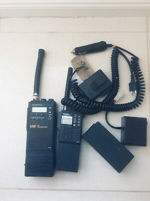 Ham radios pair of handheld 2m transceivers 144-148mhz Kenwood and Yaesu