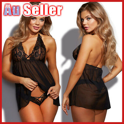 Women Underwear HOT Thong Nightwear G-String Sexy Lingerie Babydoll Dress Ladies
