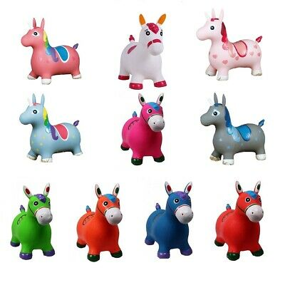 Toddler Toys Hopper Hopper Rubber Horse or Unicorn Selection