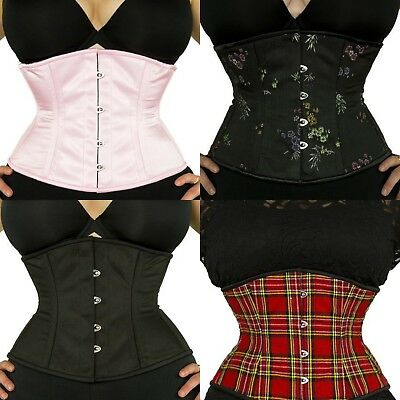d903eae6d4 NEW! AUTHENTIC BLACK Satin Underbust Corset Double Steel Boned- 411 ...