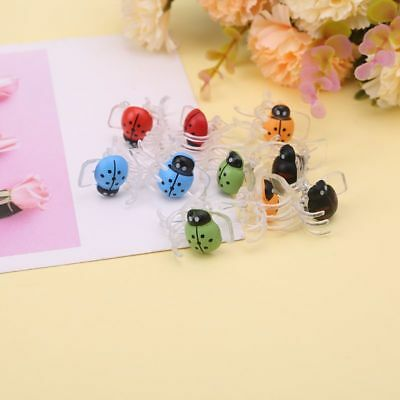 10x Cute Ladybug Orchid Support Clips Plant Stem Stalks Vines Grow Upright Clips