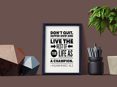 Motivational Inspirational Positive Thoughts Quote Poster Picture Print Wall 36