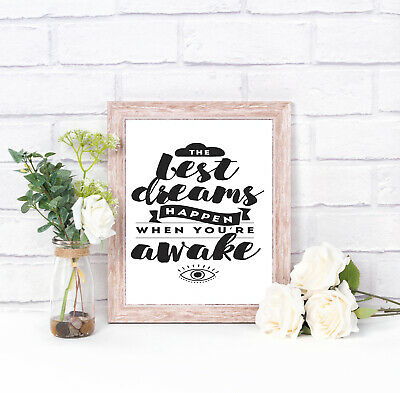 Motivational Inspirational Positive Thoughts Quote Picture Poster Print Wall 108