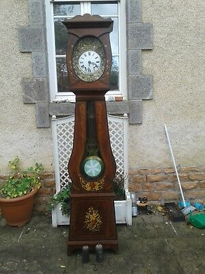 French antique vintage grandfather clock