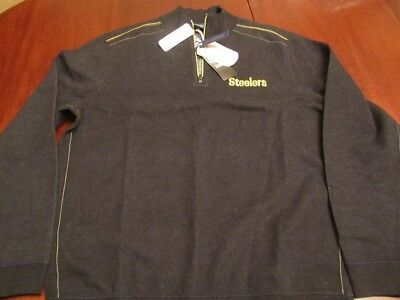 6572e3d70 Pittsburgh Steelers Tommy Bahama Flip Drive L Reversible Jacket Sweater NWT   155