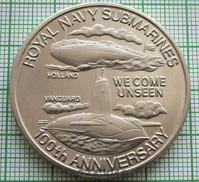 TURKS & CAICOS ISLANDS 2001 5 CROWNS, 100th Anniv of Royal Navy Submarines, UNC