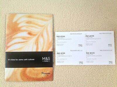 M&S Hot Drinks Vouchers x 4 Valid until 31 May 2019