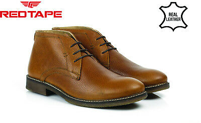 Leather Tan Ankle Smart WIMPOLE Boots Casual RED Lace TAPE Mens Up HUtqna7