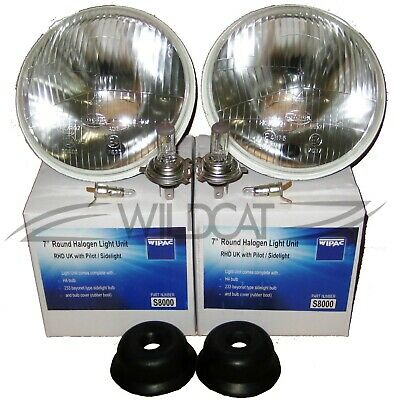 Mini Classic Lhd 7 Inch Round Headlight Halogen Conversion Kit  -  With H4 Bulb