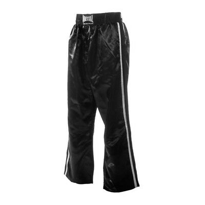 Pantalon full contact Metal Boxe 2 bandes noir