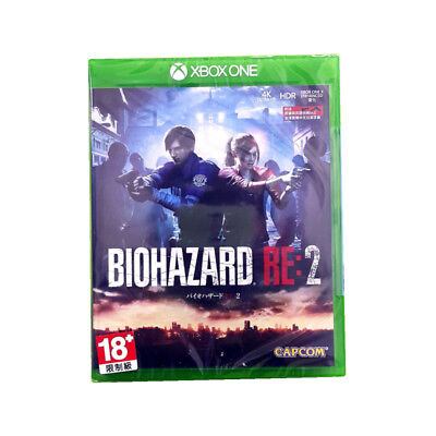Biohazard RE 2 Resident Evil XBOX ONE 1 2019 Asia English Chinese Factory Sealed