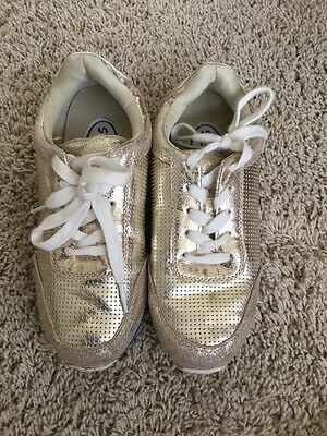 edaf324943e Stevies Metallic Gold Lace Up Youth Fashion Sneaker Shoes Girls Size 3  (jr101)
