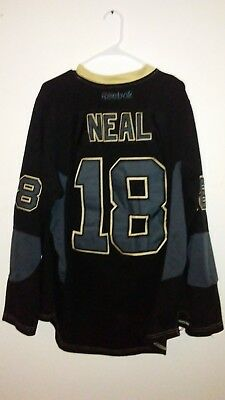 James Neal 18 Reebok NHL CCM Pittsburgh Penguins blackout jersey size 50 ee547f710