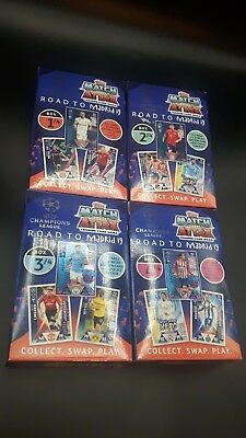 Topps Champions League Match Attax 2018/19 Road to Madrid / 4 Boxen als Set