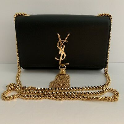 bfa920c43007 Authentic 2019 YSL Saint Laurent Kate Monogram Small Tassel Shoulder Bag   1990