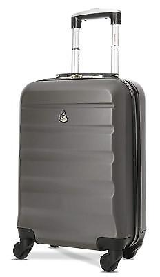 Cabin Bag On Wheel Super Lightweight ABS Hard Shell Travel Carry Hand Luggage