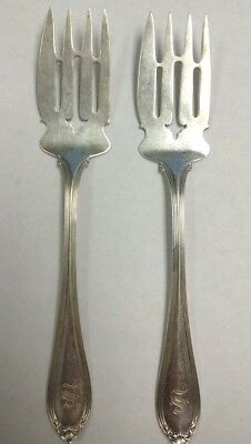 "STERLING SILVER ALVIN EVANGELINE COLD MEAT SERVING FORK 7 3/8"" 34g SOLD EACH"
