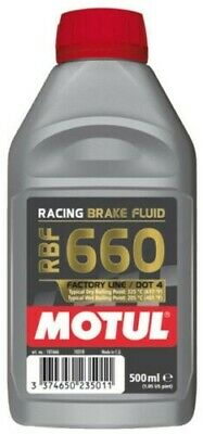 Motul RBF 660 Olio Liquido freni Racing DOT4 1 lt Synt 100% Brake Fluid 1 litro
