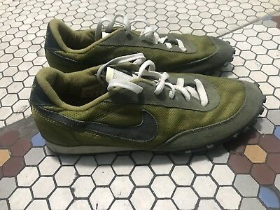 70a6572eaeb2 Nike Waffle Racer Vintage Green Cdg Jcrew Running Shoes 80 s Flyknit 10.5