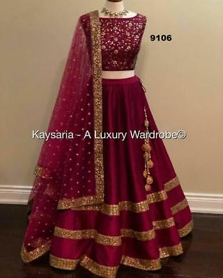 84a595662f Indian Bollywood Designer Lehenga Choli New Collection Wedding Wear Lengha  saree