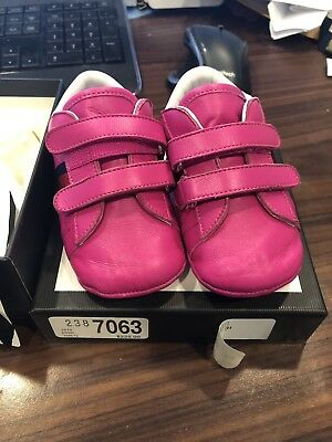 f5d098ef22e 100% AUTHENTIC NEW GUCCI BABY GIRLS PINK NEW ACE SNEAKERS SHOES SIZE 19 6-