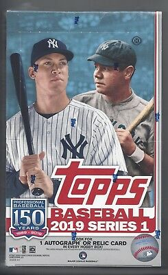 Topps 2019 Sealed Baseball Series 1 Regular Hobby Box (Incl 1 Silver Pack)!