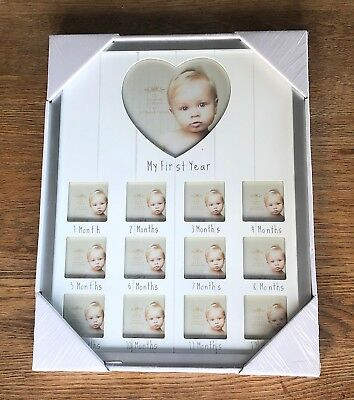 My first year photo frame. Monthly pictures. Baby shower, Christening gift LARGE