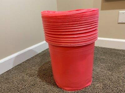 New (24) Pack 5 Gallon HDPE Steel Pail Bucket Anti-Static Insert Liner 5HD/AS/22