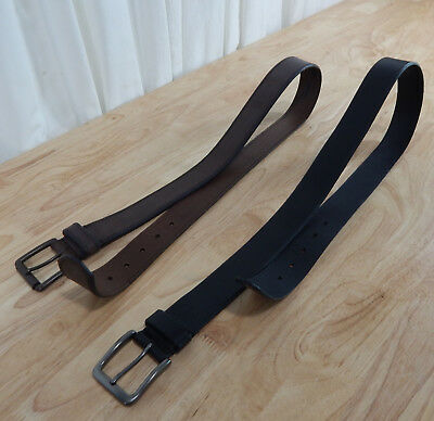 "NWOT Men's Levis Casual Leather Belt 1-3/8"" Wide Brown or Black Variety of Sizes"