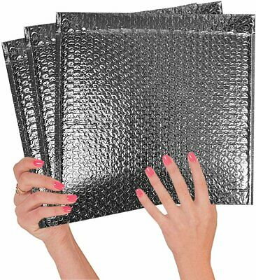 5 Pack Thermal Bubble Mailers 12x17 Metallic Padded Envelopes