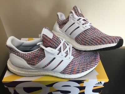 more photos 01548 137a7 ADIDAS ULTRABOOST 4.0 White Collegiate Multi-color Ultra Boost New DS CM8111