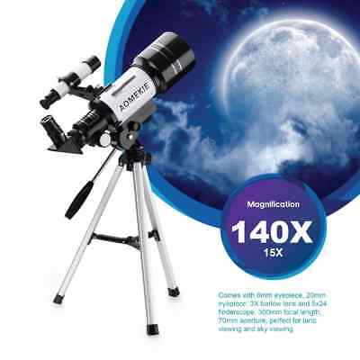 2019 HD F30070M 140X Magnification HQ Astronomical Space Telescope + Tripod Gift