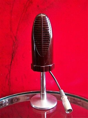 Vintage 1940's RARE Shure 718A crystal microphone deco old antique w desk stand