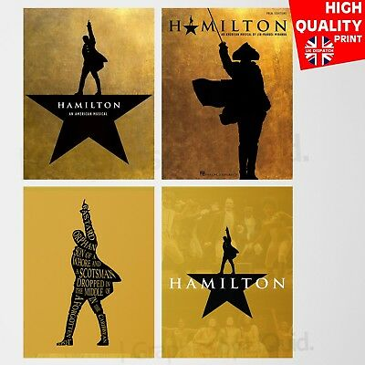 Hamilton Musical Poster American Decor Contemporary Wall Art | A4 A3 A2 A1