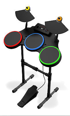 NEW PS3 Guitar Hero World Tour Wireless Drums Drum Set Kit PlayStation 3