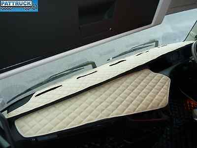 Truck Eco Leather Dash Mat-Beige,compatible With Volvo Fh4 2013-2017