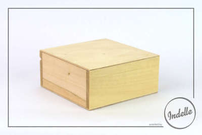 Square Wooden Storage Box With Pin Plain Storage Box Craft Decoupage