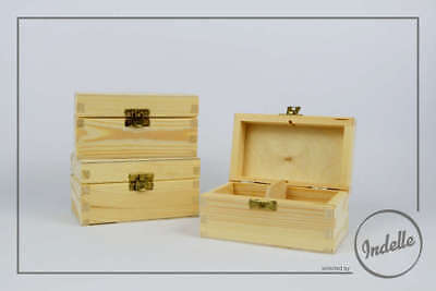 Wooden Storage Box With Latch 2 Compartments Plain Storage Box Craft Decoupage