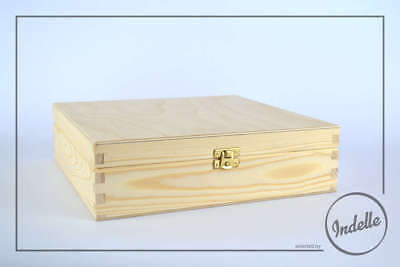 Wooden Storage Box With 16 Compartments And Brass Latch Plain Storage Box Cra...