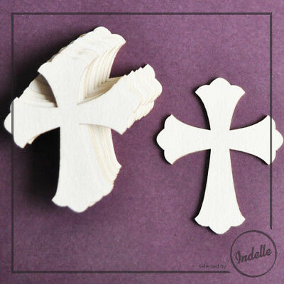 Cross First Communion Ornaments Chipboard Shapes 10 Pack Cardmaking Scrapbook...
