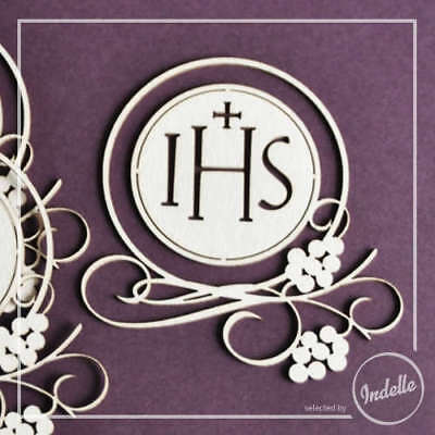 Chalice & Grapes First Communion Ornaments Chipboard Shapes - 3 Pack Cardmaki...
