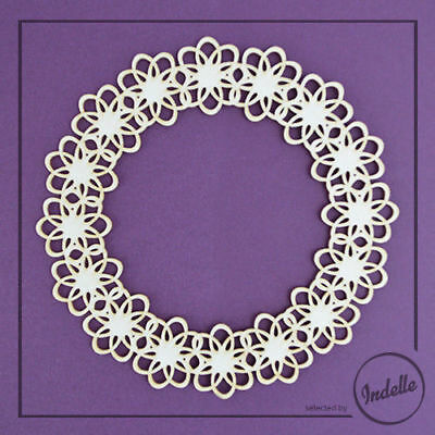 Lace Circle Frame Chipboard Shape Cardmaking Scrapbooking Craft
