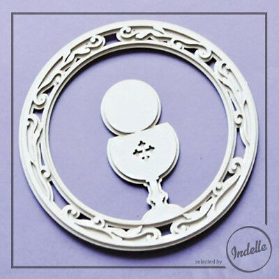 Chalice First Communion Cut-out Chipboard Shape Cardmaking Scrapbooking Craft
