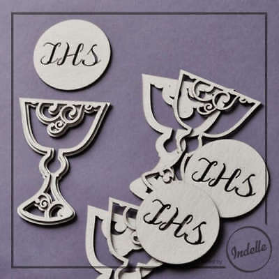 Host & Double-Layer Chalice First Communion Cut-out Chipboard Shapes 3 Pack C...