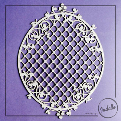 Large Oval Frame Cut-out Chipboard Shape Cardmaking Scrapbooking Craft