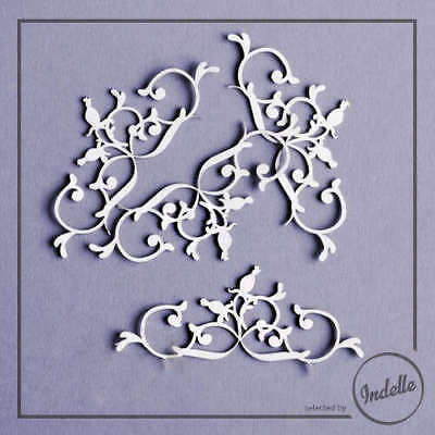 Wild Rose Ornaments Chipboard Shapes 4 Pack Cardmaking Scrapbooking Craft