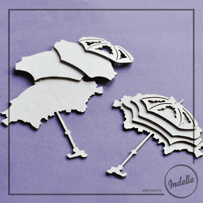 Four-layer Umbrella Chipboard Shapes 2 Pack Cardmaking Scrapbooking Craft