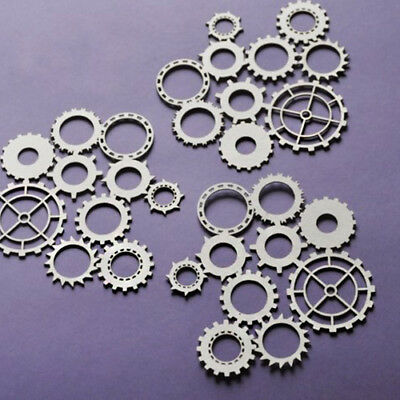 Man's World Gears Background Cut-out Chipboard Shapes 3 Pack Cardmaking Scrap...